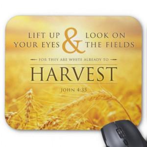 Harvest Mousepad - John 4:35 Bible Verse