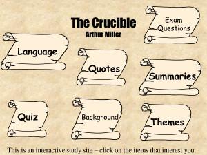 The Crucible Arthur Miller - PowerPoint by Levone