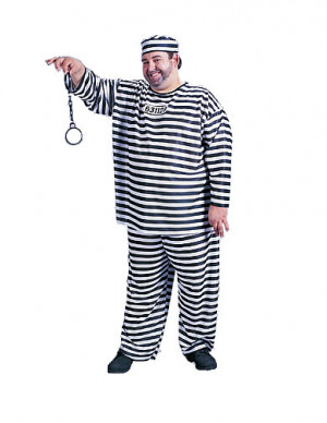 American fancy dress costumes store - Jailbird Plus Costume - Plus ...