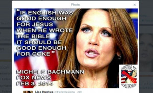 The incorrectly attributed Michele Bachmann quote (Screenshot/Twitter)