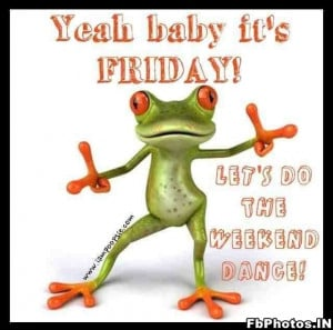 Yeah Baby, Its Friday. Frog Funny.jpg (82.01kb)