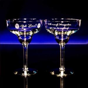 Fun Margarita Glasses (Set of 2)