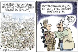 Political Cartoon is by Joe Heller in The Green Bay Press-Gazette.