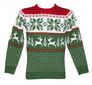 knitted christmas jumper from cheesy christmas jumpers print hi res