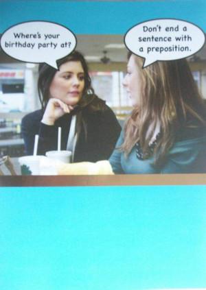 got this card for my English teacher's birthday