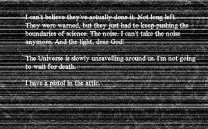creepy fallout quotes suicide static Wallpaper HD