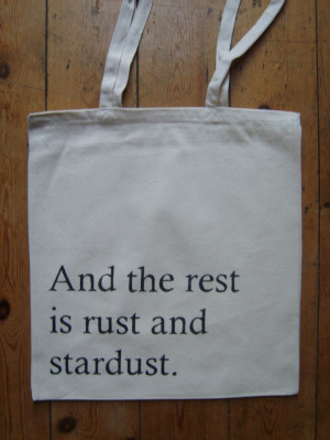 Vladimir Nabokov Rust And Stardust Lolita Quote Book Bag Canvas Tote