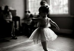 baby, ballet, black and white, cute, dance, girl, kid, little girl ...