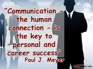 Communication Key to Success Quotes