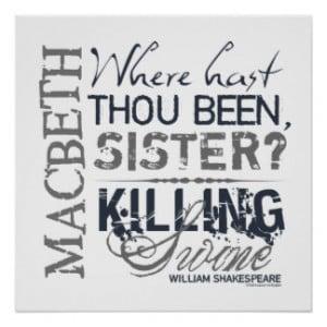 Macbeth Gifts - Shirts, Posters, Art, & more Gift Ideas