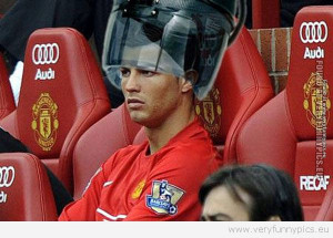 Funny Picture - Ronaldo under the hairstreamer