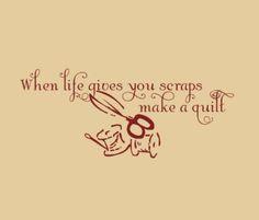 ... Scraps Make a Quilt quilting quote vinyl lettering. $19.00, via Etsy