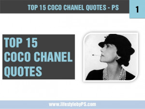 Top 15 COCO CHANEL quotes