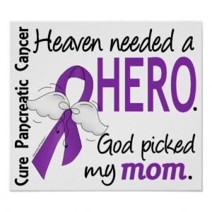 Pancreatic Cancer Purple Ribbon Posters & Prints