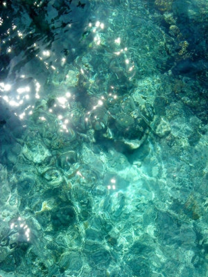 water blue ocean color turquoise Lombok
