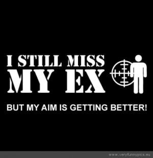 Funny Picture - I still miss my ex but my aim is getting better