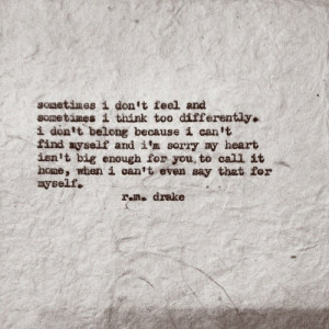 don t know myself I swear By Robert M Drake rmdrake quote quotes