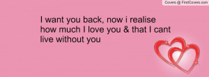 want you back, now i realise how much I love you & that I cant live ...