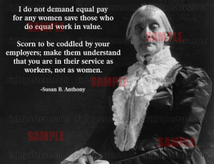 Susan B. Anthony Equality Quote Poster