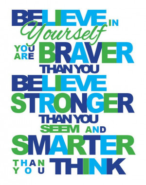 Believe In Yourself 11 x 14 Motivational Inspirational quote print ...