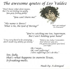 Heroes Of Olympus Leo Quotes Leo valdez's quotes from the