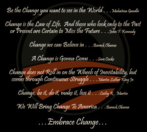 Change!! Good Morning Friends!!!