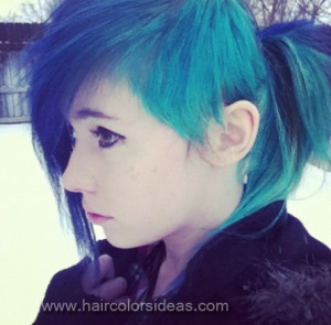 Blue Turquoise Hair Color