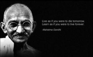 quotes mag natuurlijk de grote mahatma ghandi niet missen veel quotes ...