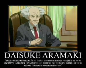 ... : Stand Alone Complex. Character: Daisuke Aramaki Quote: Colin Powell