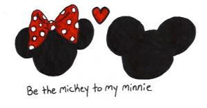 disney love mickey minnie mouse