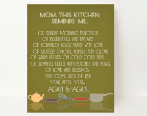 Beautiful Mother's Day Kitchen Art!