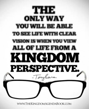 to see with clear vision...