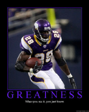 Adrian Peterson, Gale Sayers 2007?