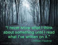 William Faulkner quote | I may not go as far as Faulkner, but whenever ...