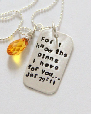 ... the Plans I Have For you Quote, Bible Quote,Religious, Confirmation