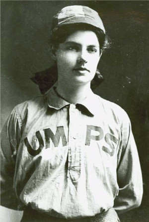 Umpire Amanda Clement. Photo Credit: National Baseball Hall of Fame