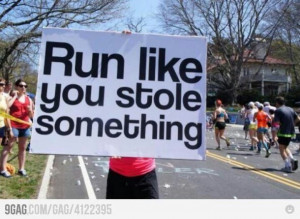Funny race sign