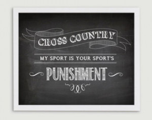 Cross Country Running Gift for Coac h - My Sport is Your Sport's ...