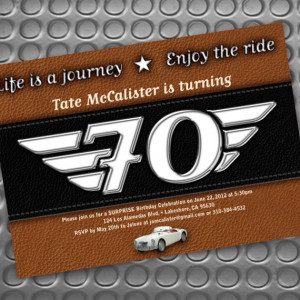 ... party, surprise party, motorcycle invitation, Harley Davidson