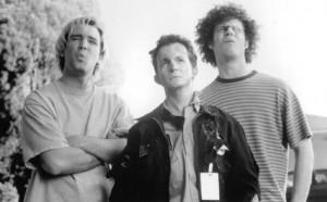 Still of Matt Stone, Trey Parker and Dian Bachar in BASEketball (1998)