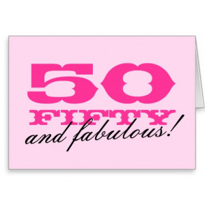 50th Birthday card for women   50 and fabulous!