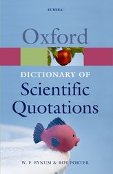 Oxford Dictionary of Scientific Quotations Reference library