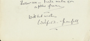 SIR WILFRED T. GRENFELL - AUTOGRAPH QUOTATION SIGNED - DOCUMENT 18809