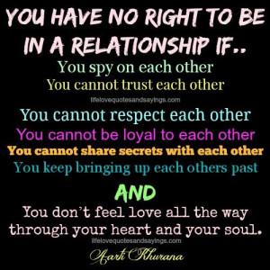 Don't Stay In A Relationship If..