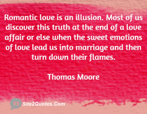 romantic love is an illusion most of us discover this truth at the end