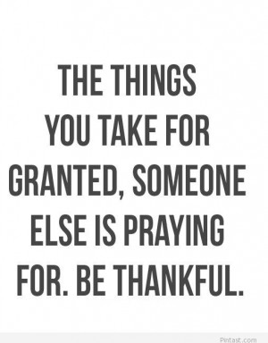 Be Thankful Quotes