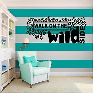 WILD-SIDE-Vinyl-Wall-Art-quote-Home-Family-Decor-Decal-Word-Phrase