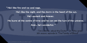 Fire And Ice Love Quotes Quote #2 - the doctor by