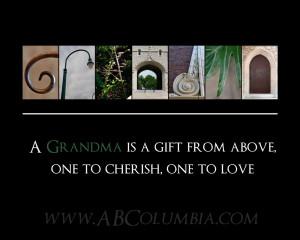 Great Grandma Quotes For Scrapbooking Letter print green grandma