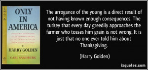 More Harry Golden Quotes